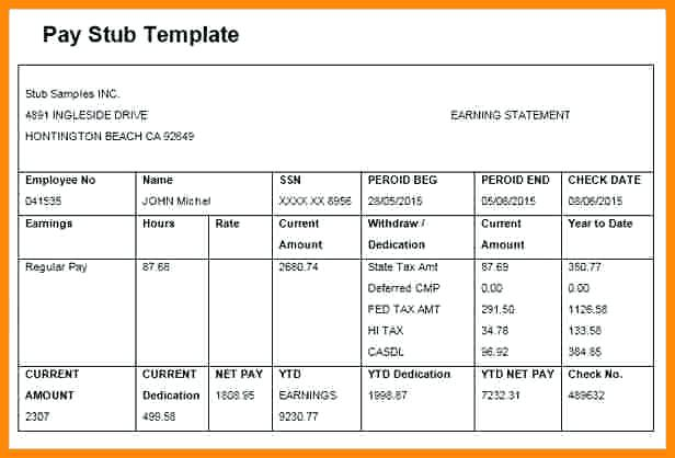 The Easiest Way To Use A Free Pay Stub Template In Microsoft Excel 2010