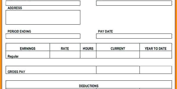 the easiest way to use a free pay stub template in. Black Bedroom Furniture Sets. Home Design Ideas